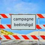 Campagne beeindigd
